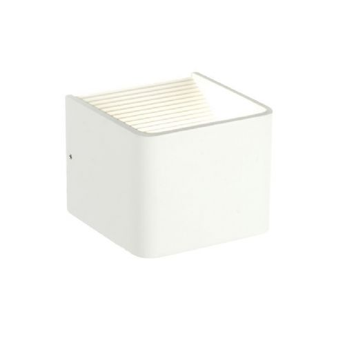 LED Textured matt white paint & clear acrylic Wall Light 55591 by Endon